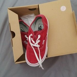 Vans Authentic red youth